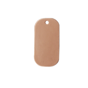 "Metal Stamping Blanks Copper Small Dog Tag, 25mm (1"") x 13mm (.51""), 24g"