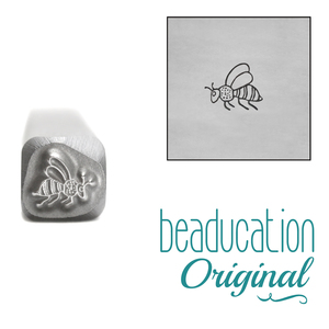 Metal Stamping Tools Bee Metal Design Stamp, 4.5mm - Beaducation Original