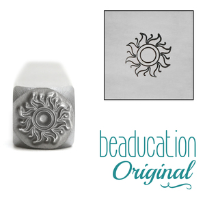 Metal Stamping Tools Sun Metal Design Stamp, 7mm - Beaducation Original
