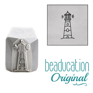 Metal Stamping Tools Lighthouse Metal Design Stamp, 11mm - Beaducation Original