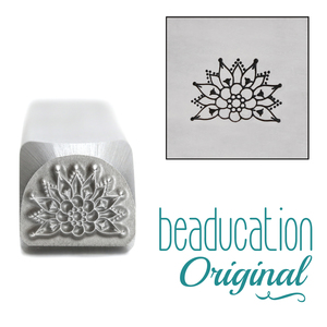 Metal Stamping Tools Intricate Mandala Element Metal Design Stamp, 10mm - Beaducation Original