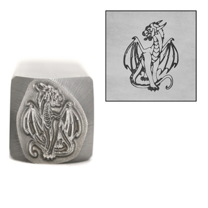 Metal Stamping Tools Dragon Metal Design Stamp, 14mm by Little Freckle