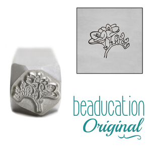 Metal Stamping Tools Freesia Flower Metal Design Stamp, 10.5mm - Beaducation Original