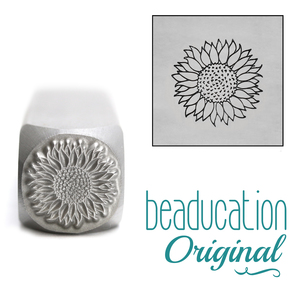 Metal Stamping Tools Sunflower Metal Design Stamp, 10mm - Beaducation Original