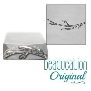 Metal Stamping Tools Stick / Branch Metal Design Stamp Pointing Left, 17mm - Beaducation Original