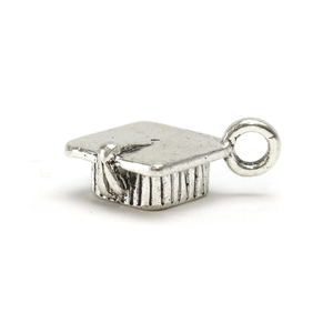 Charms & Solderable Accents Base Metal Graduation Cap Charm, Pack of 4