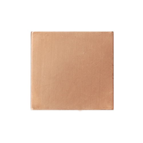 "Metal Stamping Blanks Copper Square, 21.75mm (.85""), 24g, Pk of 5"