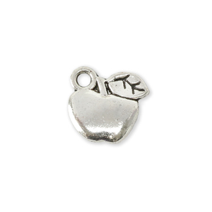 "Charms & Solderable Accents Base Metal Apple Charm 10.2mm (.40""), Pack of 5"