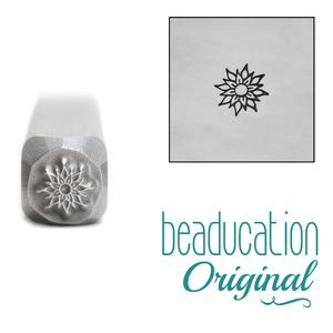 Metal Stamping Tools Pointy Flower Metal Design Stamp, 3.5mm - Beaducation Original