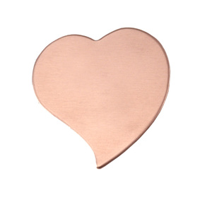"Metal Stamping Blanks Copper Stylized Heart, 22mm (.87"") x 19.5mm (.77""), 24g"