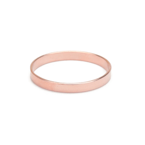 Metal Stamping Blanks Rose Gold Filled Ring Stamping Blank, 2mm Wide, SIZE 8