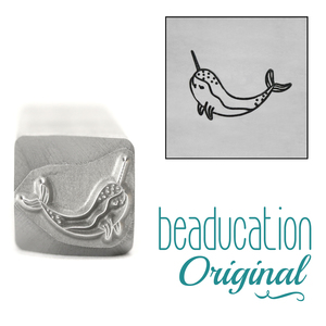 Metal Stamping Tools Narwhal Whale Metal Design Stamp, 11mm - Beaducation Original