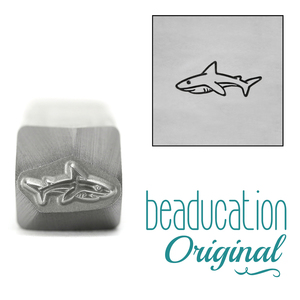 Metal Stamping Tools Mama or Papa Shark Metal Design Stamp, 10mm - Beaducation Original
