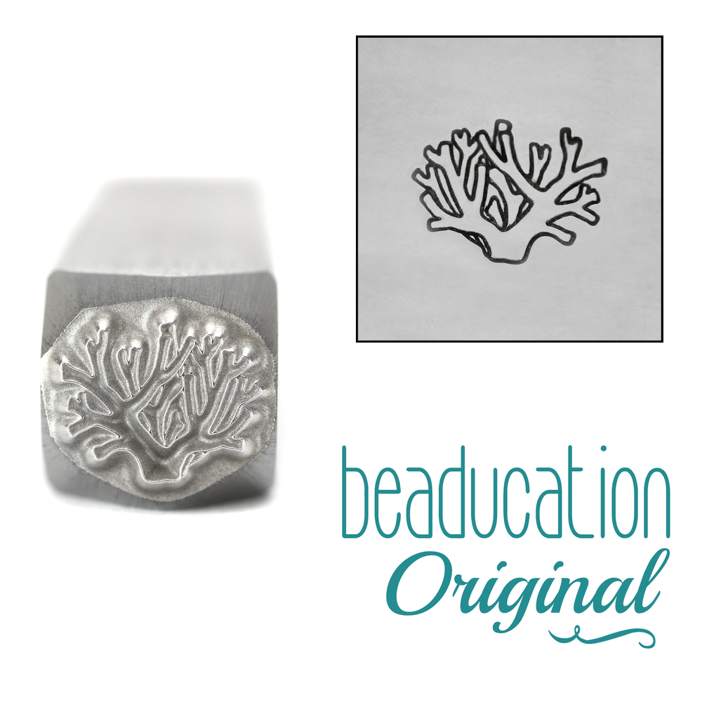 Metal Stamping Tools Coral Metal Design Stamp, 8mm - Beaducation Original