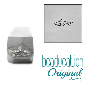 Metal Stamping Tools Baby Shark Metal Design Stamp, 6.5mm - Beaducation Original