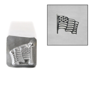 Metal Stamping Tools Waving Flag Metal Design Stamp, 5.25mm, by Stamp Yours