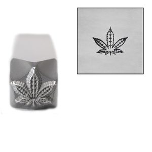Metal Stamping Tools Hemp / Cannabis Leaf Metal Design Stamp, 8mm, by Stamp Yours