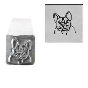 Metal Stamping Tools French Bulldog Metal Design Stamp, 8mm, by Stamp Yours