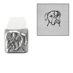 Metal Stamping Tools Boxer Metal Design Stamp, 8mm, by Stamp Yours
