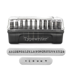 Metal Stamping Tools ImpressArt Typewriter Uppercase Letter Stamp Set, 3mm
