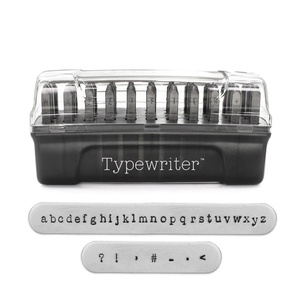 Metal Stamping Tools ImpressArt Typewriter Lowercase Letter Stamp Set, 3mm