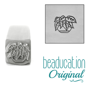 Metal Stamping Tools  Heartleaf Philodendron Plant Metal Design Stamp, 8mm - Beaducation Original