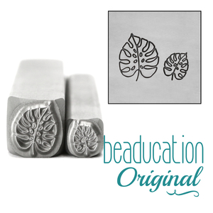 Metal Stamping Tools Monstera Leaf Set Metal Design Stamps, 5mm and 8mm - Beaducation Original