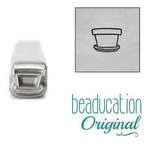 Metal Stamping Tools Terra Cotta Flower Pot Metal Design Stamp, 5mm - Beaducation Original