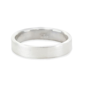 Metal Stamping Blanks Sterling Silver Ring Stamping Blank, 4mm Wide, SIZE 5, *PLEASE READ PRODUCT NOTE