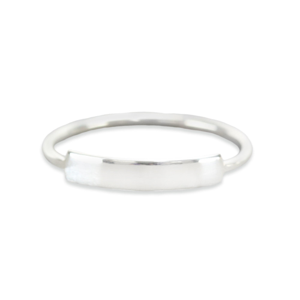 Metal Stamping Blanks Sterling Silver Thin Tab Ring Stamping Blank, SIZE 8, *PLEASE READ PRODUCT NOTE