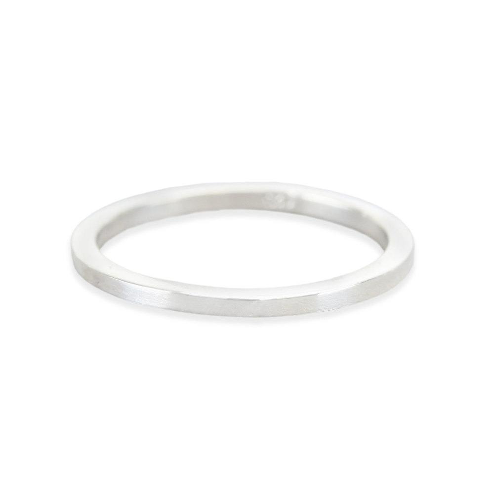 Metal Stamping Blanks Sterling Silver Ring Stamping Blank, 1.5mm Wide, SIZE 10, *PLEASE READ PRODUCT NOTE