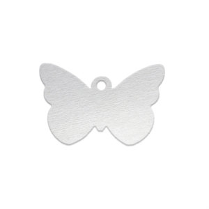 Metal Stamping Blanks Aluminum Butterfly with Hole, 18 Gauge, Pack of 5