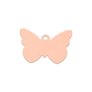 Metal Stamping Blanks Copper Butterfly with Hole, 18 Gauge