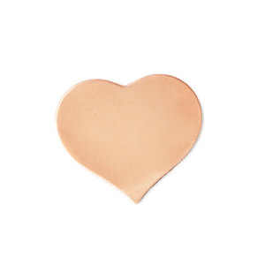 "Metal Stamping Blanks Copper Puffy Heart, 19mm (.75"") x 17.5mm (.69""), 24 Gauge, Pack of 5"
