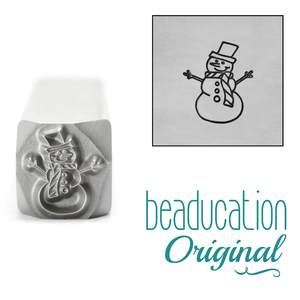 Metal Stamping Tools Snowman Metal Design Stamp, 8.2mm - Beaducation Original