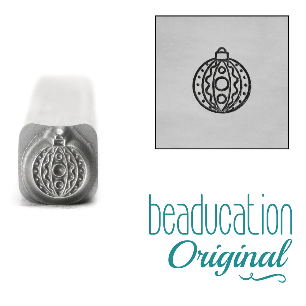 Metal Stamping Tools Round Ornament with Detail Metal Design Stamp, 5.2mm - Beaducation Original