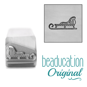 Metal Stamping Tools Sleigh Metal Design Stamp, 11.2mm - Beaducation Original