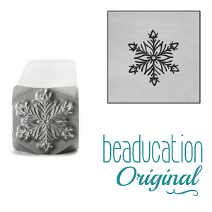 Metal Stamping Tools 2020 Snowflake Metal Design Stamp, 8.2mm - Beaducation Original