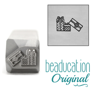 Metal Stamping Tools Pile of Gifts Metal Design Stamp, 9.5mm - Beaducation Original