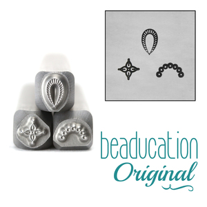 Metal Stamping Tools Tiny Mandala Elements Set Metal Design Stamps, 4.5mm, 4mm, and 3.5mm - Beaducation Original