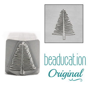 Metal Stamping Tools Evergreen Tree Metal Design Stamp, 14mm - Beaducation Original