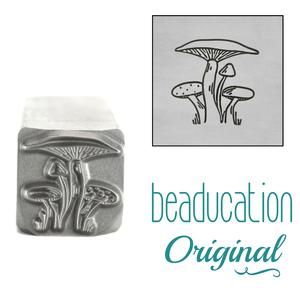 Metal Stamping Tools Mushroom Bunch Metal Design Stamp, 11.2mm - Beaducation Original