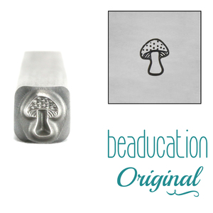 Metal Stamping Tools Small Mushroom Metal Design Stamp, 4.5mm - Beaducation Original