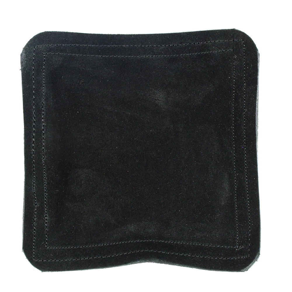 "Jewelry Making Tools Sandbag, Bench Block Pad - 9"" Square Black Leather/Suede"