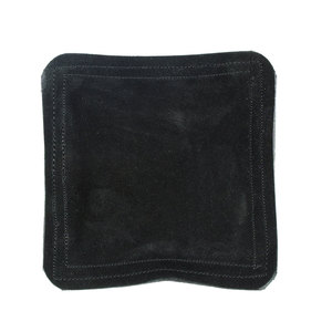 "Jewelry Making Tools Sandbag, Bench Block Pad - 6"" Square Black Leather/Suede"