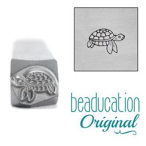 Metal Stamping Tools Sea Turtle Swimming Right Metal Design Stamp, 8.1mm - Beaducation Original