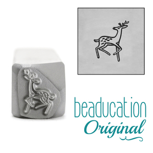 Metal Stamping Tools Graceful Deer Trotting Right Metal Design Stamp, 9.5mm - Beaducation Original
