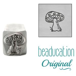 Metal Stamping Tools Mushroom with Dots Metal Design Stamp, 8.2mm - Beaducation Original