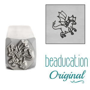 Metal Stamping Tools Dragon Flying Right Metal Design Stamp, 11mm - Beaducation Original