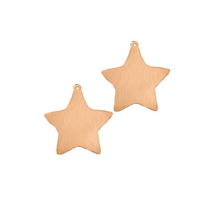"Metal Stamping Blanks Copper Star Ornament Blank,  33mm (1.3"") x  25.4mm (1""), 14 Gauge, Pack of 2"